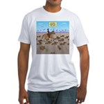 The Great Wiener Dog Trail Drive Fitted T-Shirt