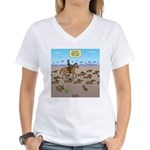 The Great Wiener Dog Trail Women's V-Neck T-Shirt