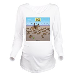 The Great Wiener Dog Long Sleeve Maternity T-Shirt