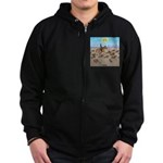 The Great Wiener Dog Trail Drive Zip Hoodie (dark)