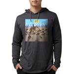 The Great Wiener Dog Trail Drive Mens Hooded Shirt