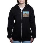 The Great Wiener Dog Trail Driv Women's Zip Hoodie
