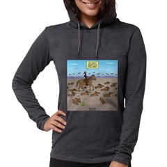The Great Wiener Dog Trail Dri Womens Hooded Shirt