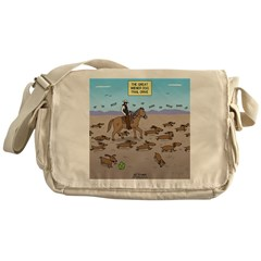 The Great Wiener Dog Trail Drive Messenger Bag