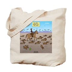 The Great Wiener Dog Trail Drive Tote Bag