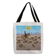 The Great Wiener Dog Trail Driv Polyester Tote Bag