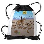 The Great Wiener Dog Trail Drive Drawstring Bag