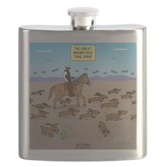 The Great Wiener Dog Trail Drive Flask
