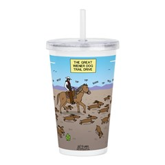 The Great Wiener Dog T Acrylic Double-wall Tumbler