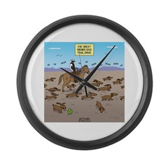 The Great Wiener Dog Trail Drive Large Wall Clock