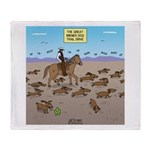 The Great Wiener Dog Trail Drive Throw Blanket