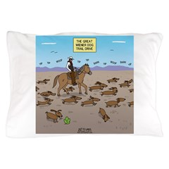 The Great Wiener Dog Trail Drive Pillow Case