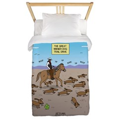 The Great Wiener Dog Trail Drive Twin Duvet Cover