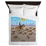 The Great Wiener Dog Trail Drive Queen Duvet