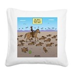 The Great Wiener Dog Trail Dr Square Canvas Pillow