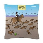 The Great Wiener Dog Trail Dri Woven Throw Pillow