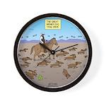 The Great Wiener Dog Trail Drive Wall Clock