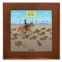 The Great Wiener Dog Trail Drive Framed Tile