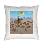 The Great Wiener Dog Trail Drive Everyday Pillow