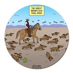 The Great Wiener Dog Trail Drive Round Car Magnet
