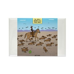 The Great Wiener Dog Trail Drive Rectangle Magnet