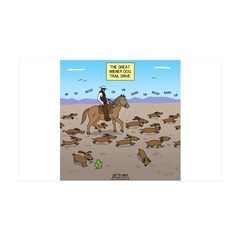 The Great Wiener Dog Trail Drive Wall Decal