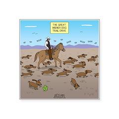 The Great Wiener Dog Trail Square Sticker 3