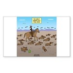 The Great Wiener Dog Tra Sticker (Rectangle 50 pk)