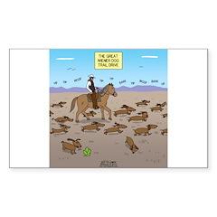 The Great Wiener Dog Trail Dri Sticker (Rectangle)