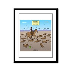 The Great Wiener Dog Trail Driv Framed Panel Print