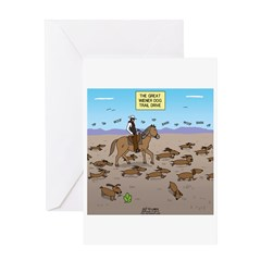 The Great Wiener Dog Trail Drive Greeting Card