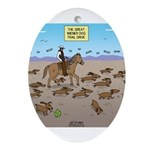 The Great Wiener Dog Trail Drive Oval Ornament