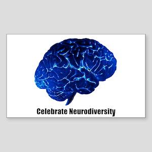 Celebrate Neurodiversity Rectangle Sticker