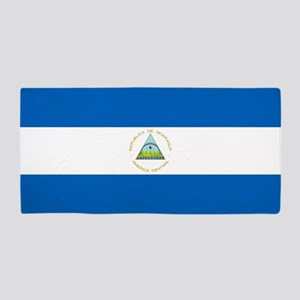 Flag of Nicaragua Beach Towel