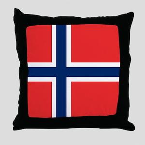 Flag: Norway Throw Pillow