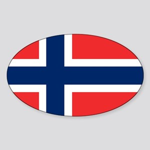 Flag: Norway Sticker (Oval)
