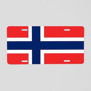 Flag: Norway Aluminum License Plate