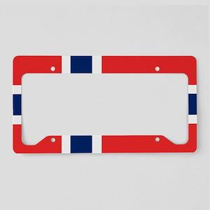Flag: Norway License Plate Holder