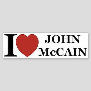 I Love John McCain Bumper Sticker