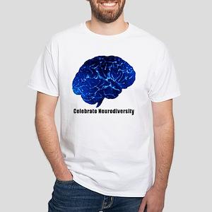Celebrate Neurodiversity White T-Shirt