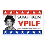 Sarah Palin Heartbeat Rectangle Sticker