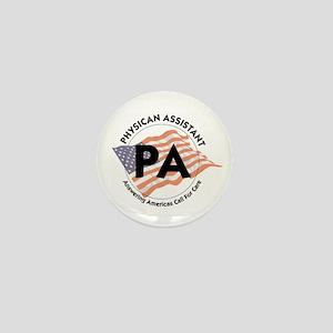 Patriotic Physician Assistant Mini Button