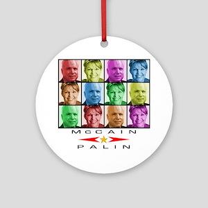 McCain Palin Ornament (Round)