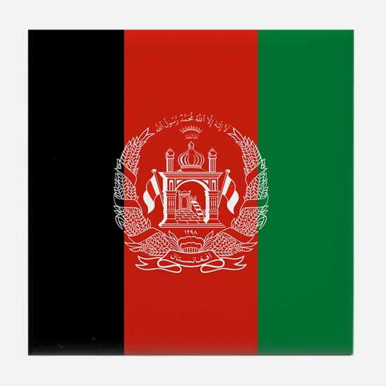 Flag: Afghanistan Tile Coaster
