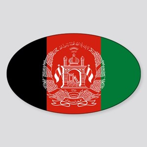 Flag: Afghanistan Sticker (Oval)