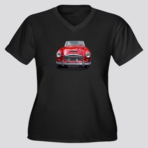 1961 Austin 3000 Women's Plus Size V-Neck Dark T-S