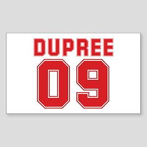 DUPREE 09 Rectangle Sticker