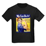 Sarah Palin We Can Do It Kids Dark T-Shirt