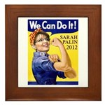 Sarah Palin We Can Do It Framed Tile