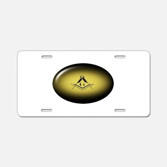 Masonic Light Aluminum License Plate